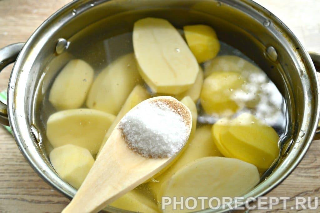 Фото рецепта - Картофельное пюре с молоком и сливочным маслом - шаг 3