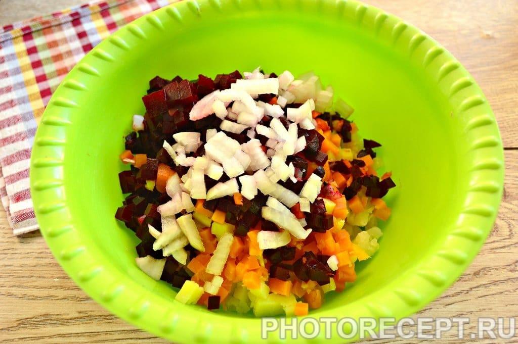 Фото рецепта - Винегрет с солеными огурцами - шаг 3