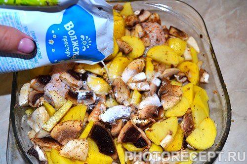 Фото рецепта - Курица с грибами - шаг 5