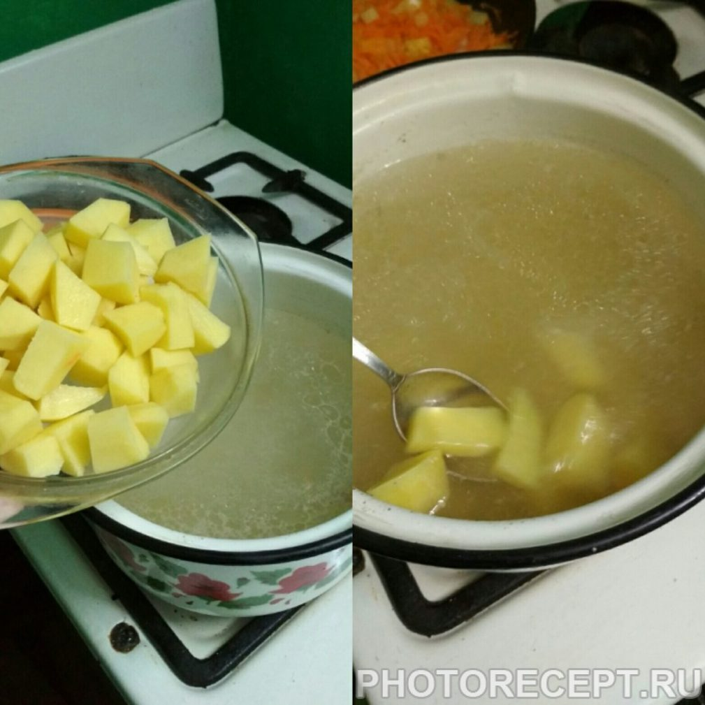 Фото рецепта - Суп с фрикадельками куриными - шаг 4