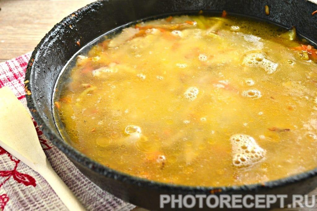 Фото рецепта - Рис со свининой на сковороде - шаг 5