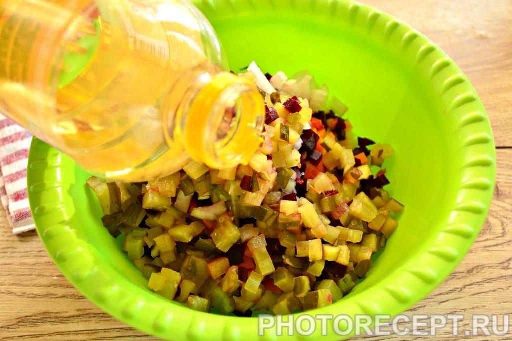 Фото рецепта - Винегрет с солеными огурцами - шаг 5