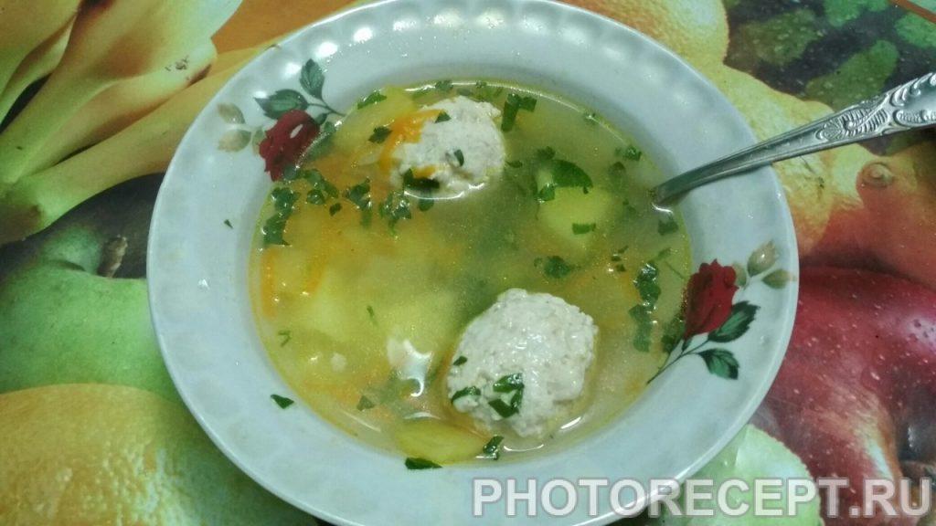 Фото рецепта - Суп с фрикадельками куриными - шаг 6
