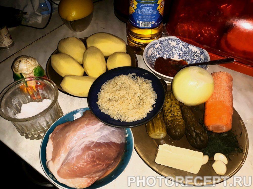 Фото рецепта - Ароматный рассольник с рисом - шаг 1