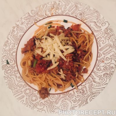 Паста Болоньезе - рецепт с фото