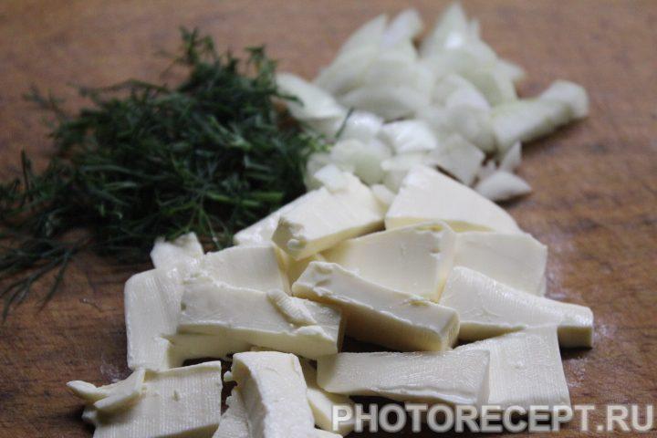 Фото рецепта - Сырный суп с грибами - шаг 5