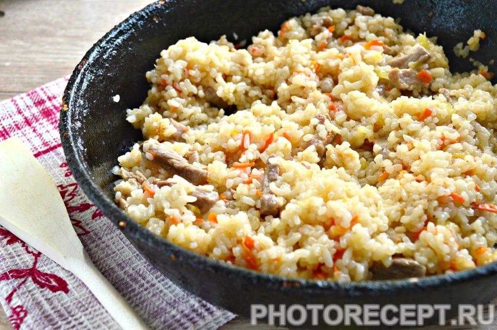 Фото рецепта - Рис со свининой на сковороде - шаг 7