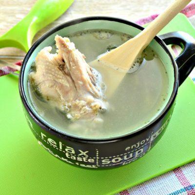 Куриный бульон с овощами - рецепт с фото