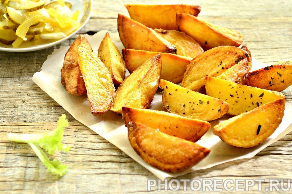 Фото рецепта - Картофель по-деревенски со специями - шаг 7