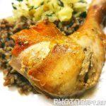 Запеченная курица с медово-соевым соусом