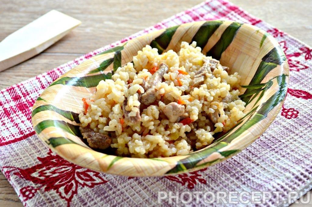 Фото рецепта - Рис со свининой на сковороде - шаг 8