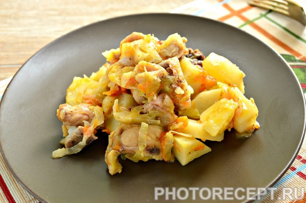 Фото рецепта - Курица с картошкой и овощами - шаг 8