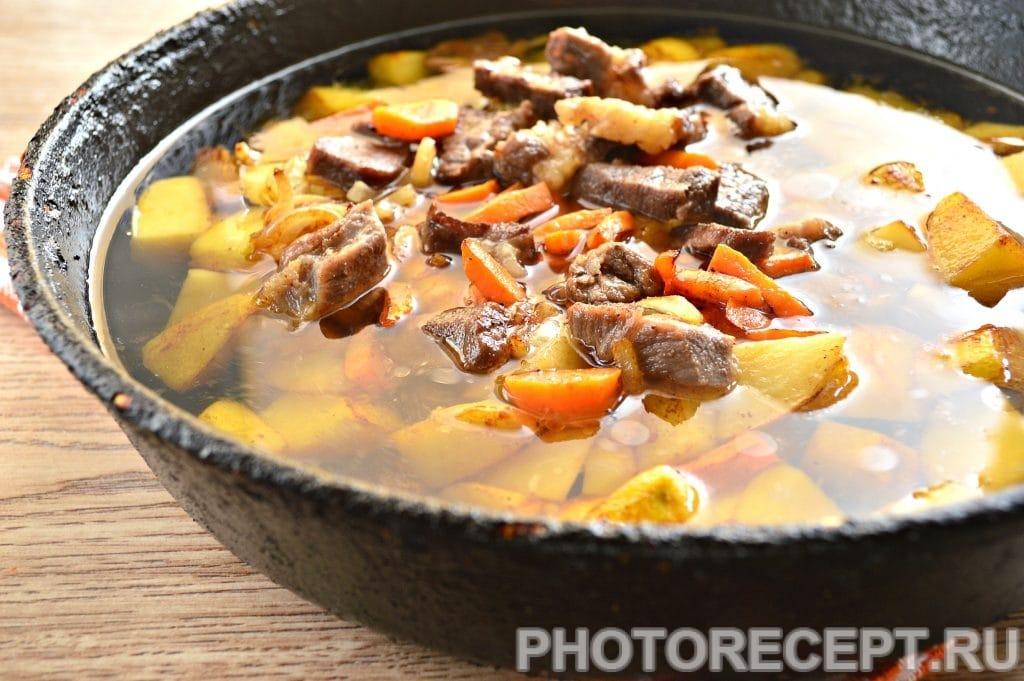 Фото рецепта - Жаркое по-домашнему с говядиной - шаг 9