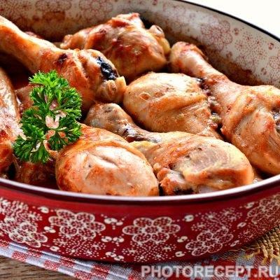 Куриные голени в духовке - рецепт с фото