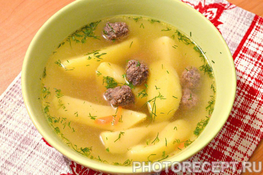 Фото рецепта - Картофельный суп с фрикадельками - шаг 8