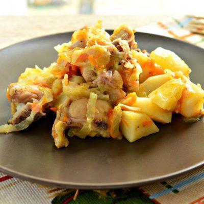 Курица с картошкой и овощами - рецепт с фото