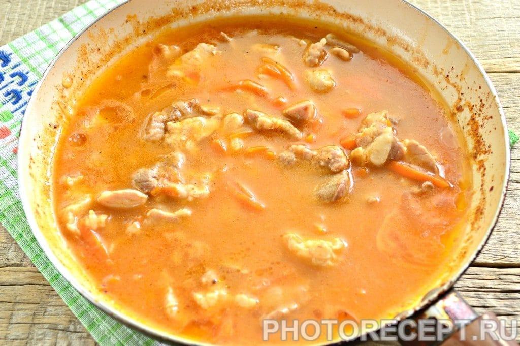 Фото рецепта - Мясо с овощами на сковороде - шаг 9