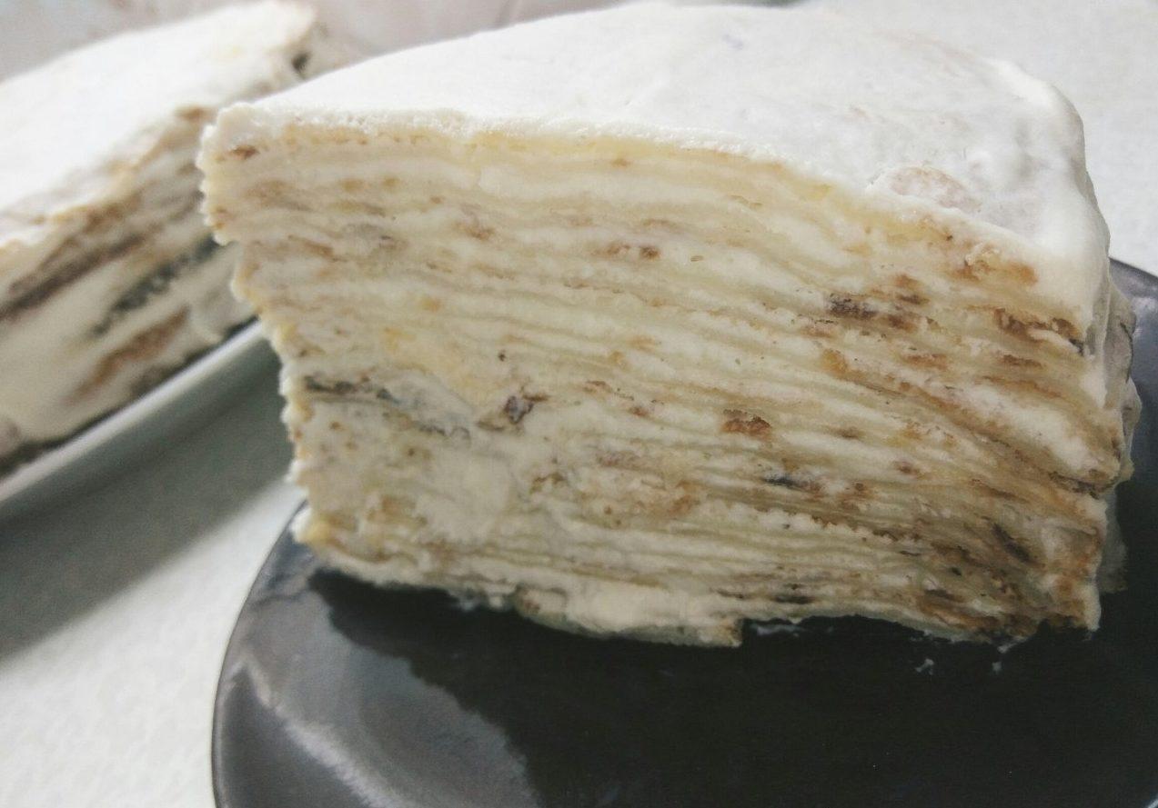 Блинный торт со сливочным кремом