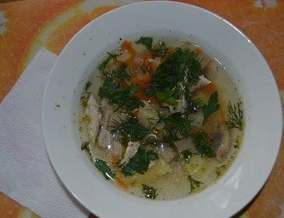 Грибной суп из шампиньонов - рецепт с фото