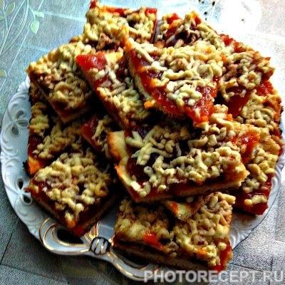 Кудрявое печенье с джемом - рецепт с фото