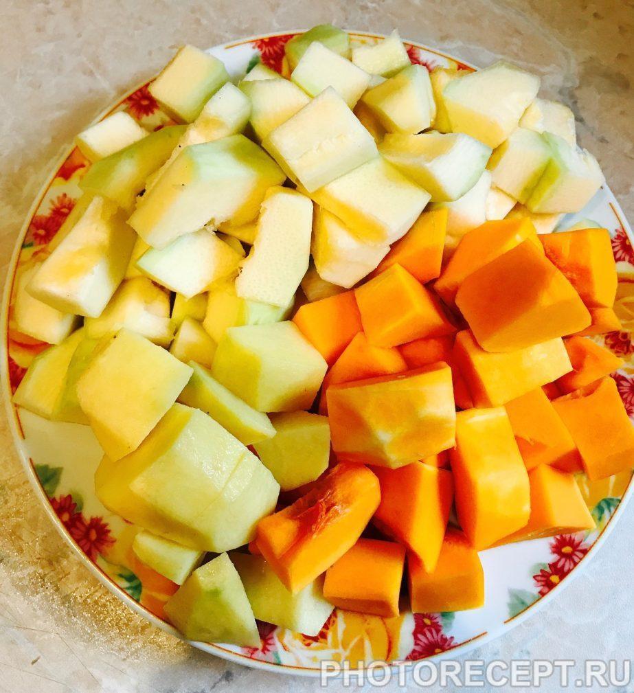 Фото рецепта - Суп-пюре из кабачка и тыквы - шаг 2