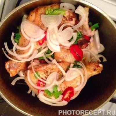 Фото рецепта - Тушеная курочка с овощами - шаг 8