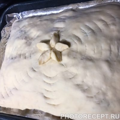 Фото рецепта - Деревенский курник с блинами - шаг 13