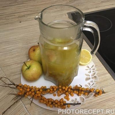 Компот из яблок и облепихи - рецепт с фото