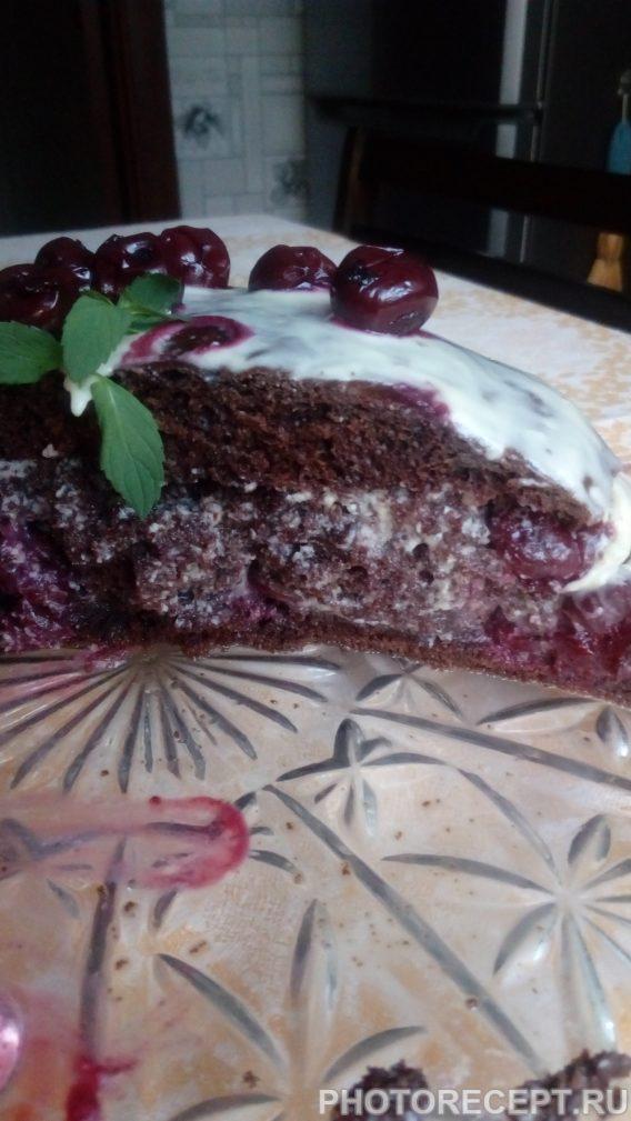 Фото рецепта - Торт «Пьяная вишня» - шаг 8