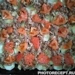 Фото рецепта - Запеканка картофельная с фаршем и помидорами - шаг 3