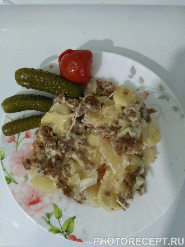 Фото рецепта - Запеканка картофельная с фаршем и помидорами - шаг 5