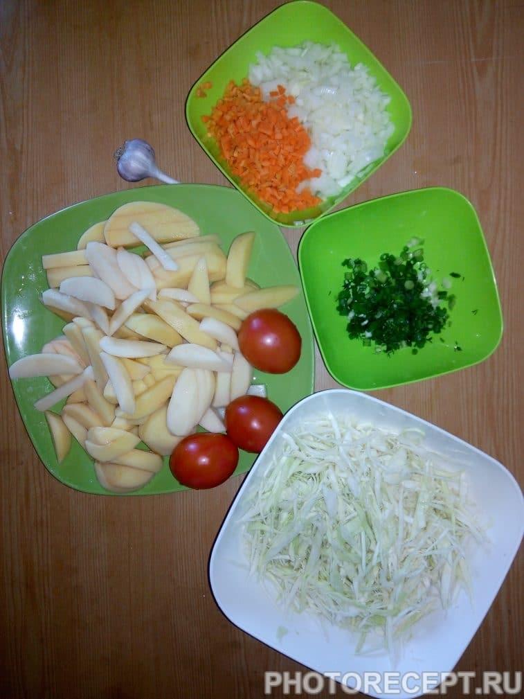 Фото рецепта - Борщ без свеклы с фасолью - шаг 2