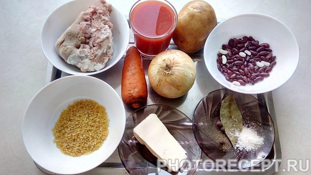 Фото рецепта - Суп томатный с фасолью - шаг 1