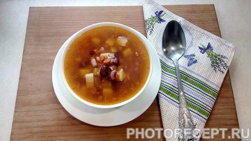 Фото рецепта - Суп томатный с фасолью - шаг 9