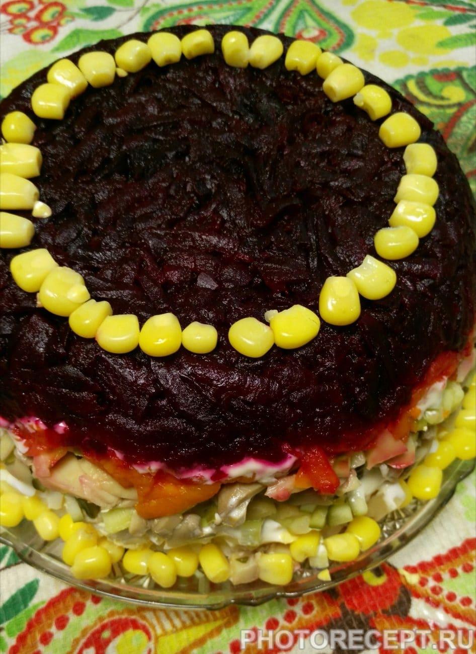 Овощной слоёный салатик