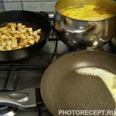 Фото рецепта - Суп пюре из тыквы с плавленным сыром и сливками - шаг 4