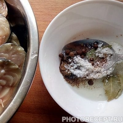 Фото рецепта - Соленая скумбрия в домашних условиях - шаг 4