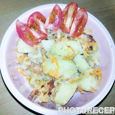 Картофель с курицей - рецепт с фото