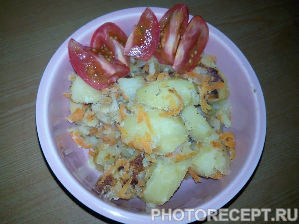 Фото рецепта - Картофель с курицей - шаг 8