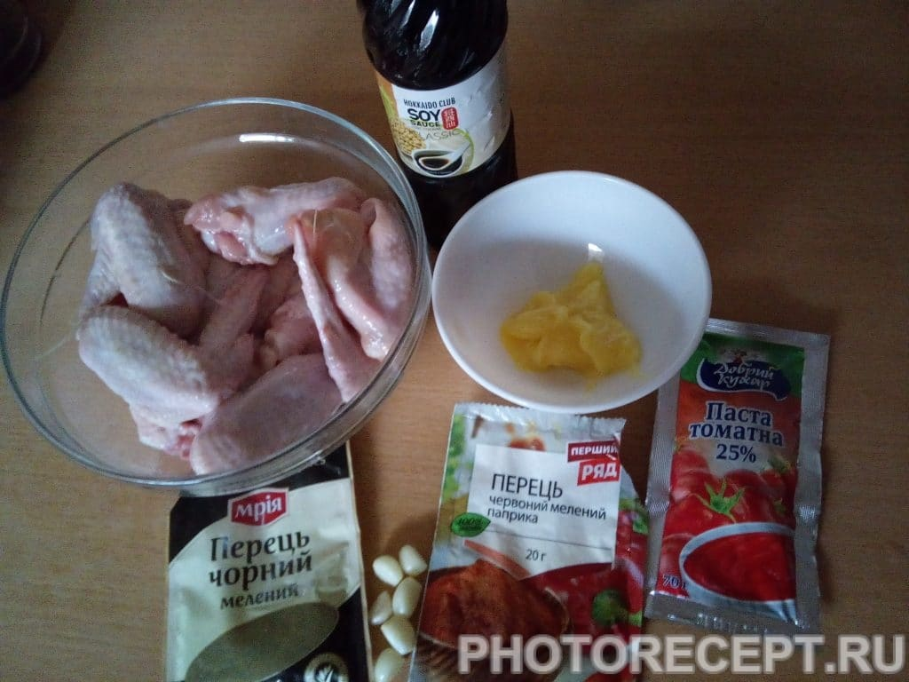 Фото рецепта - Куриные крылышки в медовом соусе с кунжутом - шаг 1