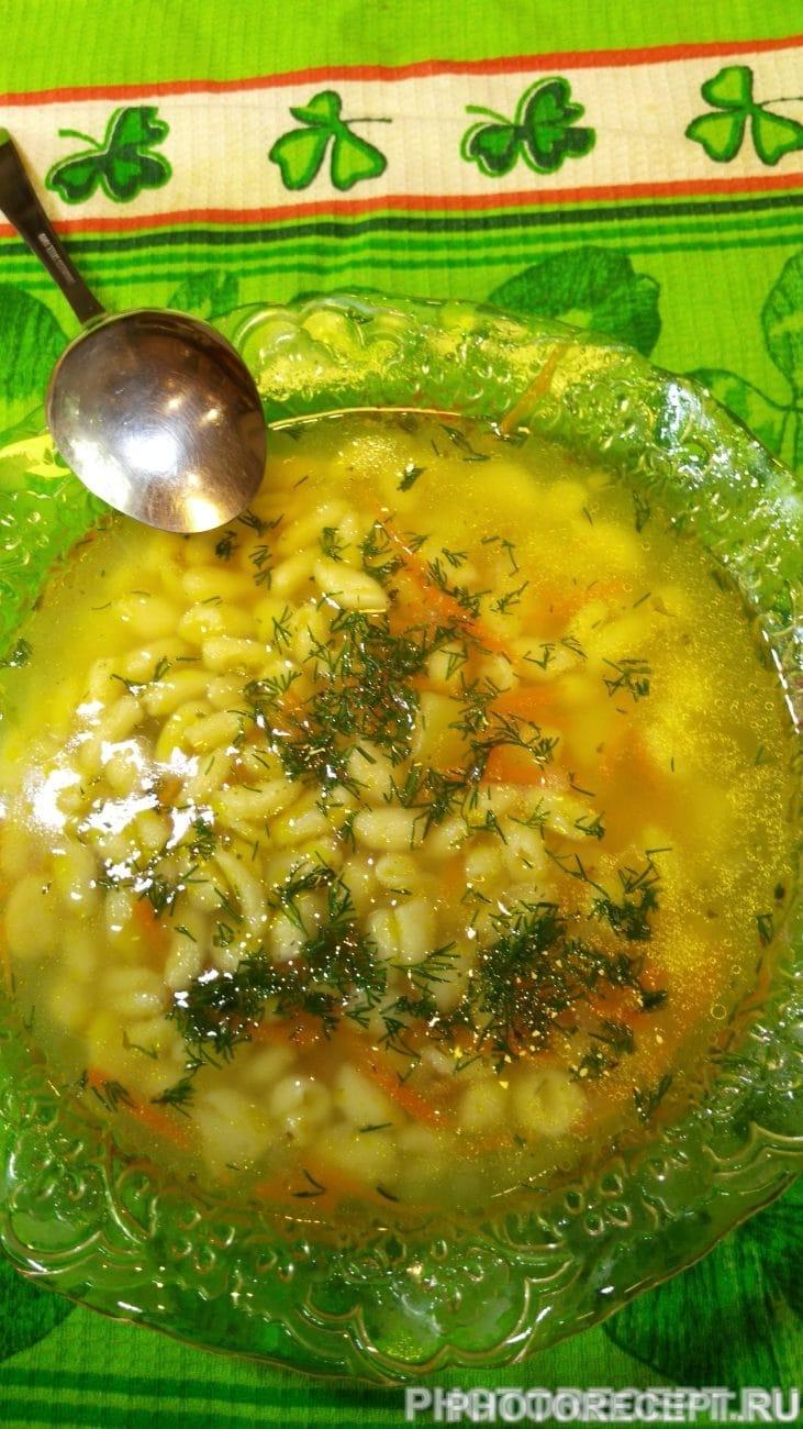 Суп с мини – клёцками