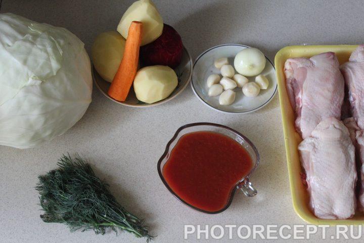 Фото рецепта - Красный борщ с пампушками - шаг 13