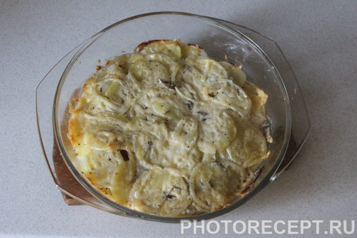 Фото рецепта - Картофельный гратен - шаг 12