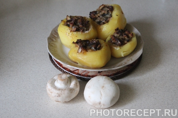 Фото рецепта - Картофель фаршированный грибами - шаг 10