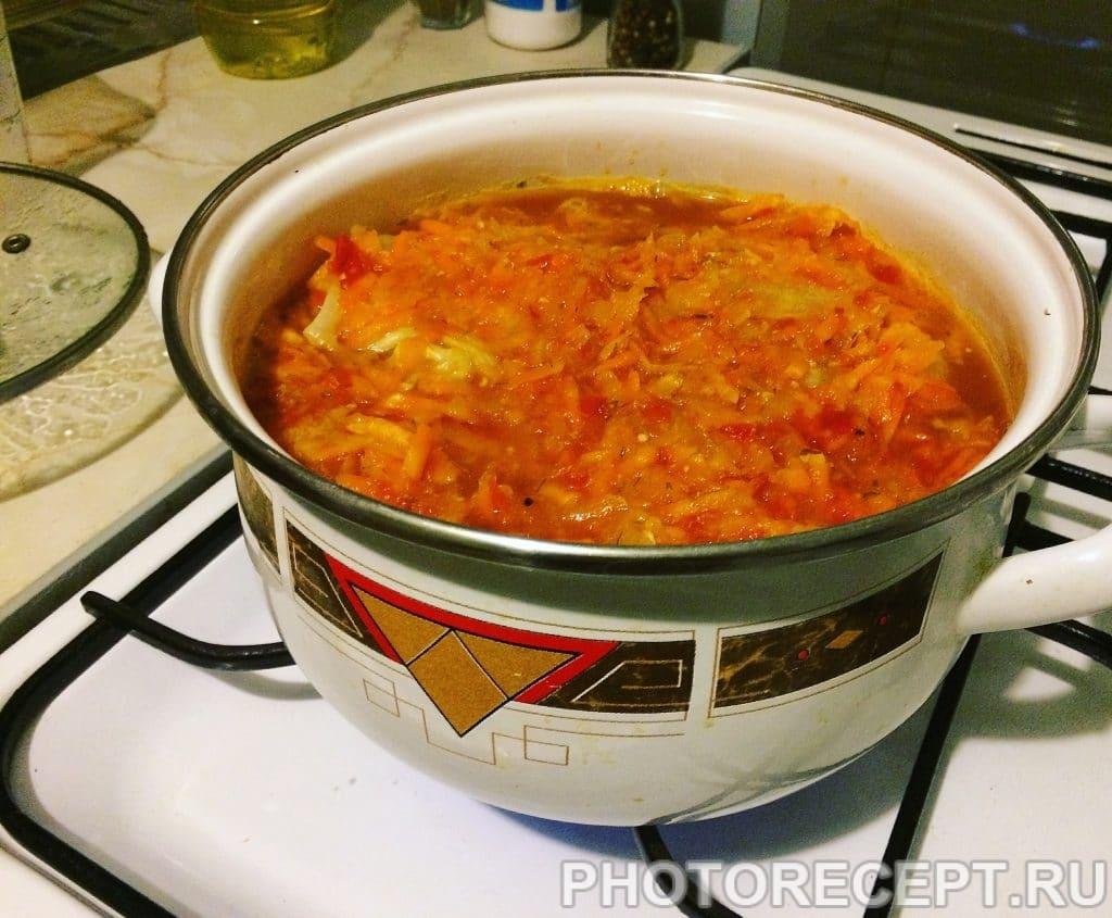 Фото рецепта - Голубцы с фаршем и рисом - шаг 7