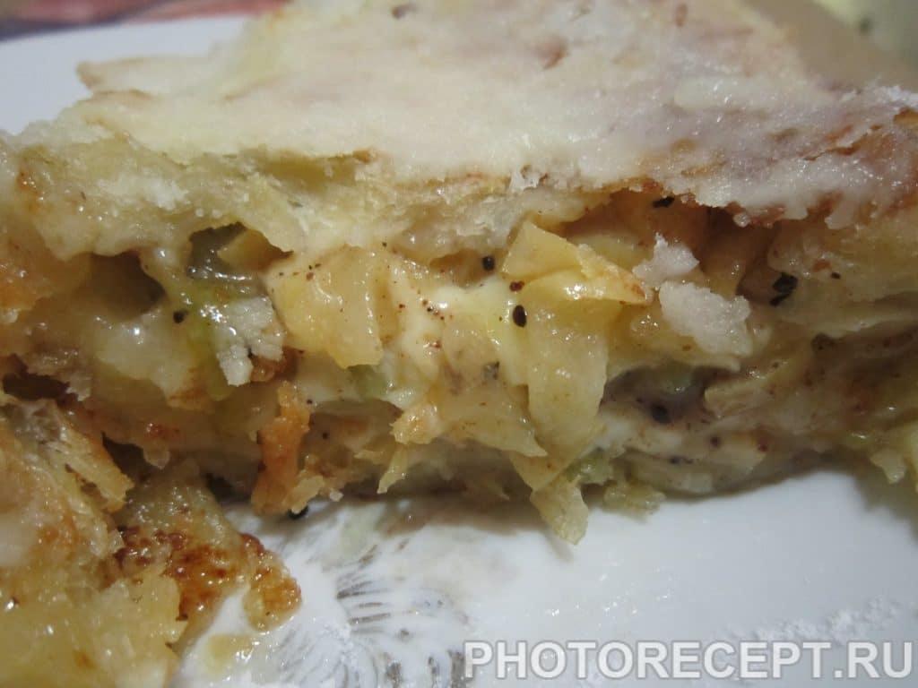 Фото рецепта - Слоёный штрудель на сковороде - шаг 7