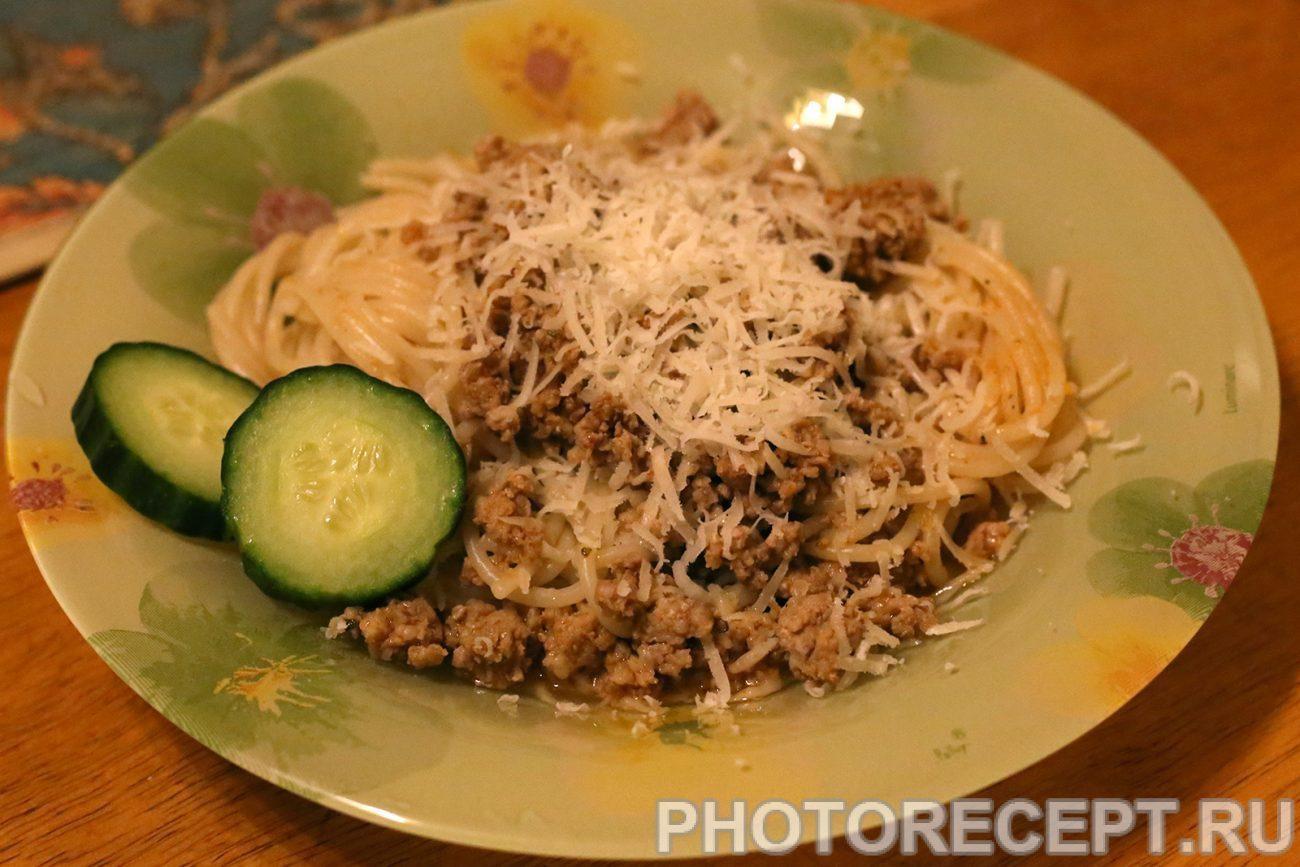 Спагетти с мясным соусом