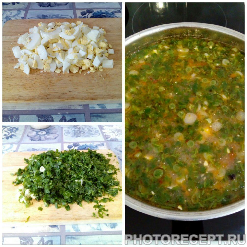 Фото рецепта - Зеленый борщ – блюдо, которое холодной осенью напоминает о теплом лете - шаг 5
