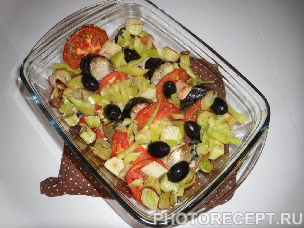 Фото рецепта - Скумбрия, запеченная в духовке - шаг 5