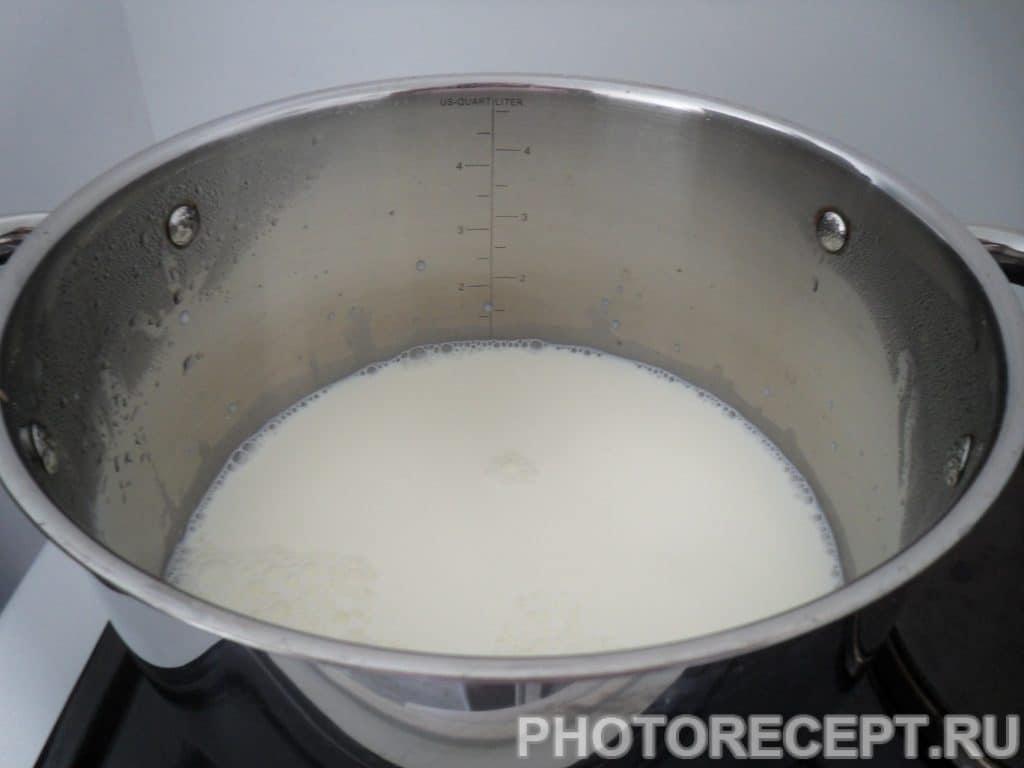 Фото рецепта - Кукурузная каша с печенной тыквой и айвой - шаг 4
